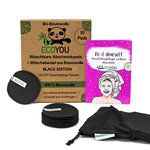 EcoYou washable make-up removal pads BLACK, 10 pads, 1 laundry net